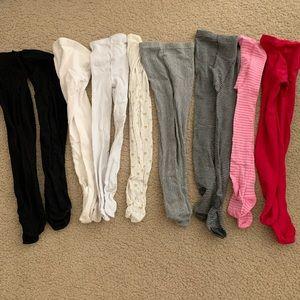 9 pairs of Girls stocking tights leggings.